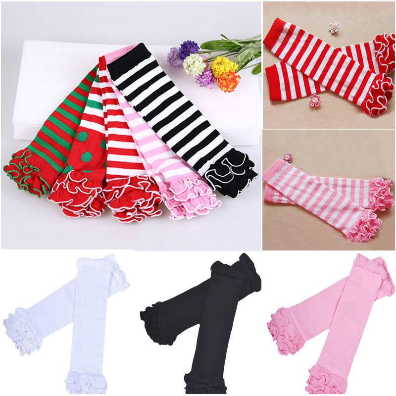 Cute Kids Baby Girls Knee High Leg Warmers Autumn Winter Striped Polka Dot Leg Warmer For Newborn Toddlers Girls Leg Warmers