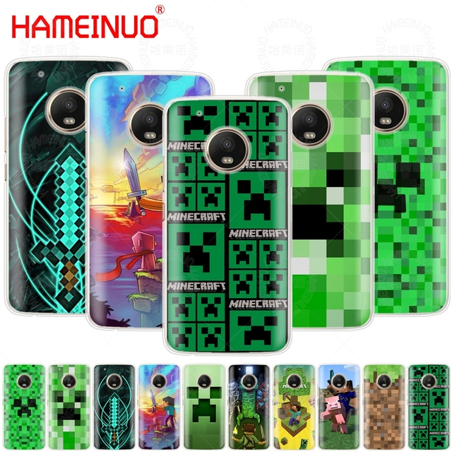 US $2 92 |HAMEINUO Creeper Minecraft case phone cover For Motorola Moto X4  C G6 G5 G5S G4 Z2 Z3 PLAY PLUS-in Half-wrapped Case from Cellphones &