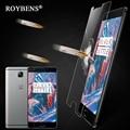 Roybens 2016 caliente oneplus 3 vidrio templado protector de pantalla frontal transparente Glassed Cine Para Uno más Tres 3 5.5 pulgadas 9 H Caja Al Por Menor