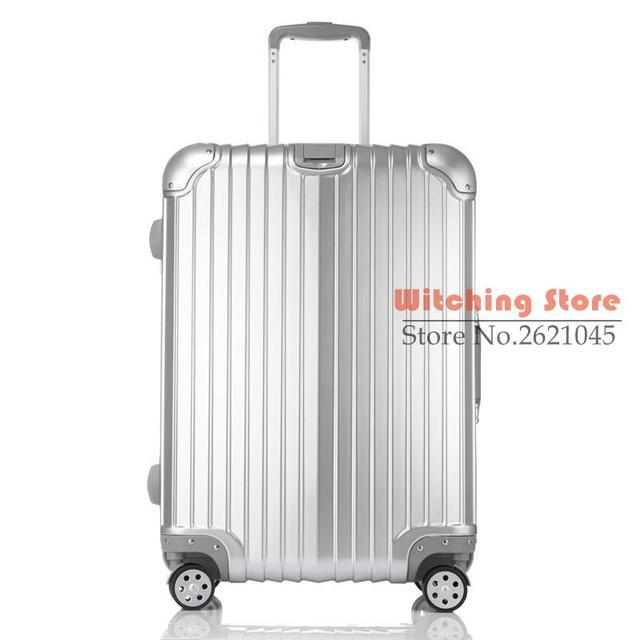 24 PULGADAS 202429 # Los nuevos hombres y mujeres caja de bolsa de equipaje de ruedas universales de aluminio ventas directas # EC ENVÍO GRATIS