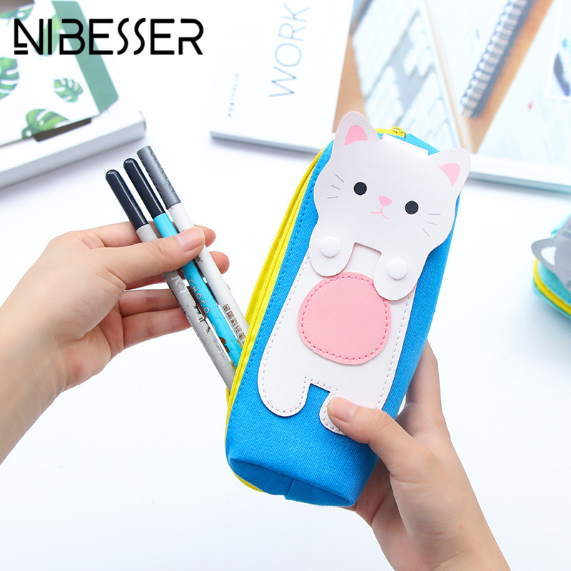 NIBESSER Multifunctional Travel Bag Zipper Cat Pencil Box Pen Bags Cosmetic Pouch Travel Accessories Cute Travel Toiletry Bags