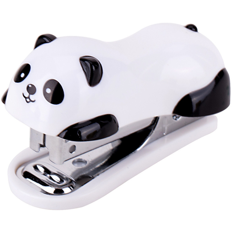 Free Shipping Mini Panda Stapler Set 1000pc Staple Cartoon Office School Supplies Staionery Paper Clip Binding Binder Book Sewer