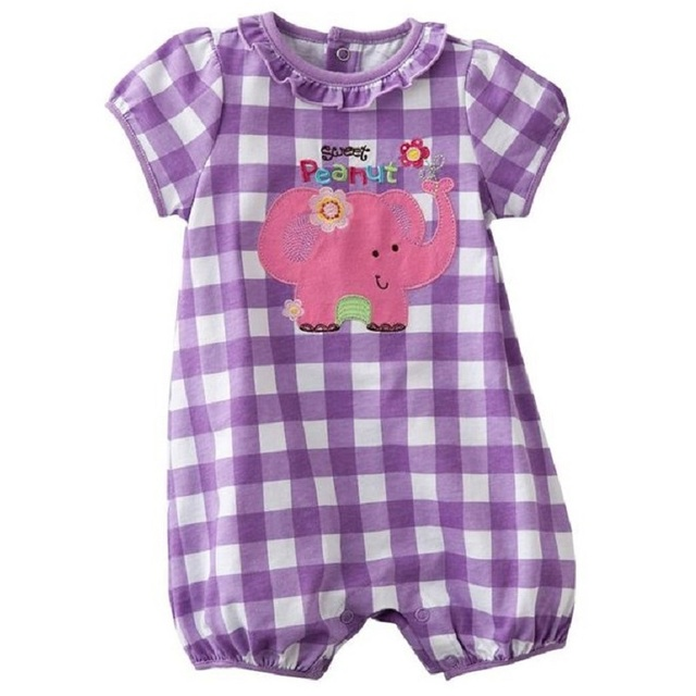 Hooyi Baby Rompers Body Suits Baby Girls Clothes Infant Shortall