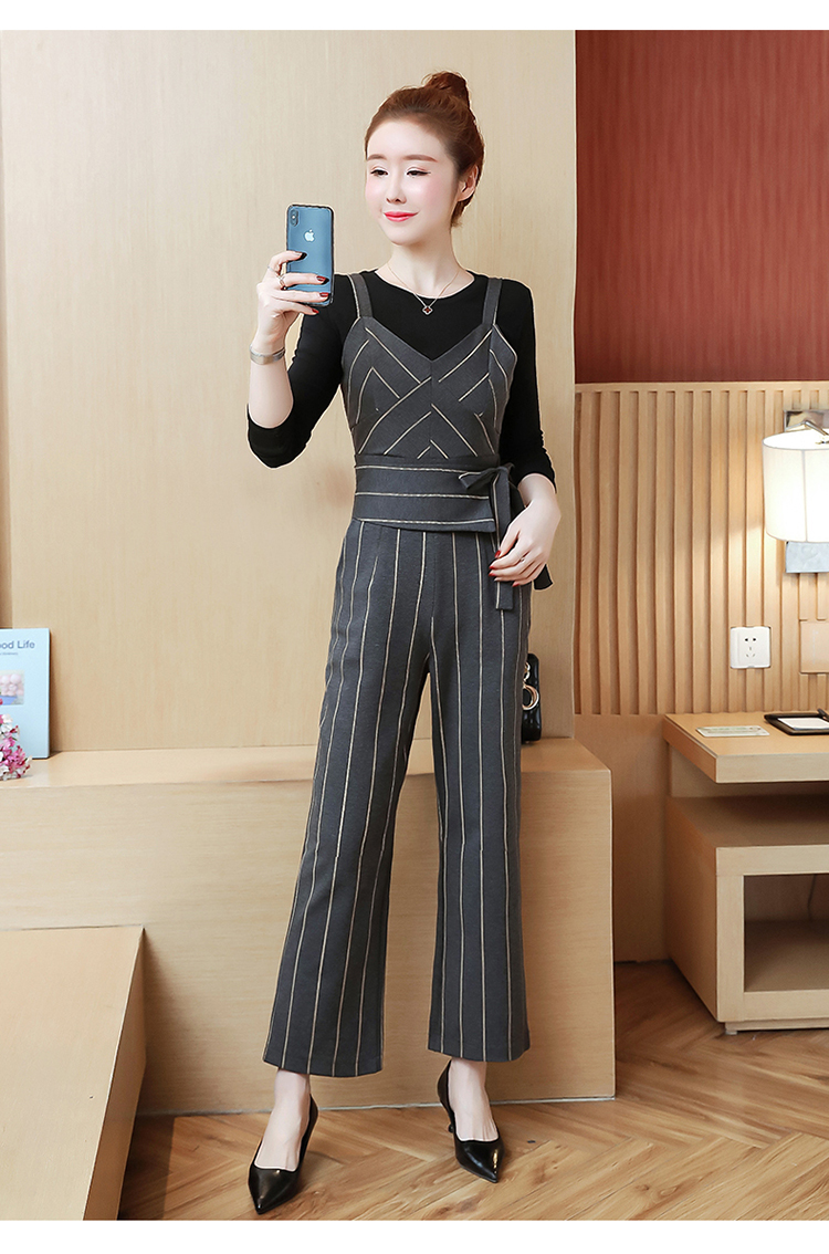 YICIYA Women outfits tracksuit sportswear Striped top and bib pants suits 2 piece set co-ord set OL Office 2019 bodycon clothing 20