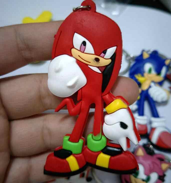 Sonic the Hedgehog PVC части и аксессуары подвеска Украшение унисекс сумка цепь Подвески брелок для ключей