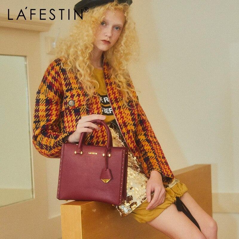 LA FESTIN 2018 New Women Handbag Leather Tote Handbags Luxury Multifunctional Versatile Bag Ladies Luxury Handbags