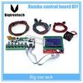 Rumba BIQU placa de controle DIY + display LCD 12864 controlador + jumper + A4988 Motherboard kits para Reprap Rumba impressora 3D