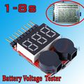 5pcs for 1-8S Lipo / Li-ion / Fe Battery Voltage 2IN1 Tester Low Voltage Buzzer Alarm Hot Selling Free Shipping