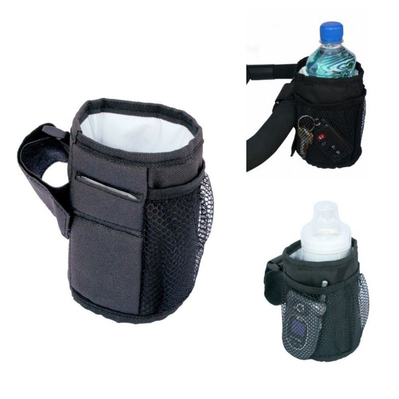 1PC Waterproof Rack Universal Bike Baby Cart Cup Holder Drink Feeding Bottle Bags Stroller Bicycle Mounted Bracket