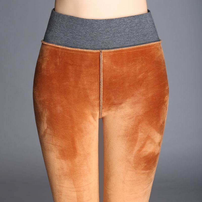 Velvet Skinny Stretch Leggings Autumn Winter Women's High Waist Elastic Skinny Warm Fleece Pencil Pants Plus Large Size 4xl|leggings autumn|stretch leggingsleggings plus - AliExpress