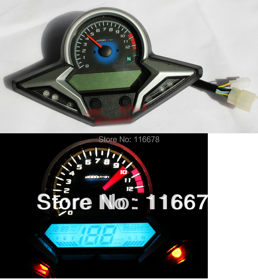 mph kmh lcd digital odometer speedometer tachometer motorcycle for honda cbr 200 250 r rmp motor. Black Bedroom Furniture Sets. Home Design Ideas
