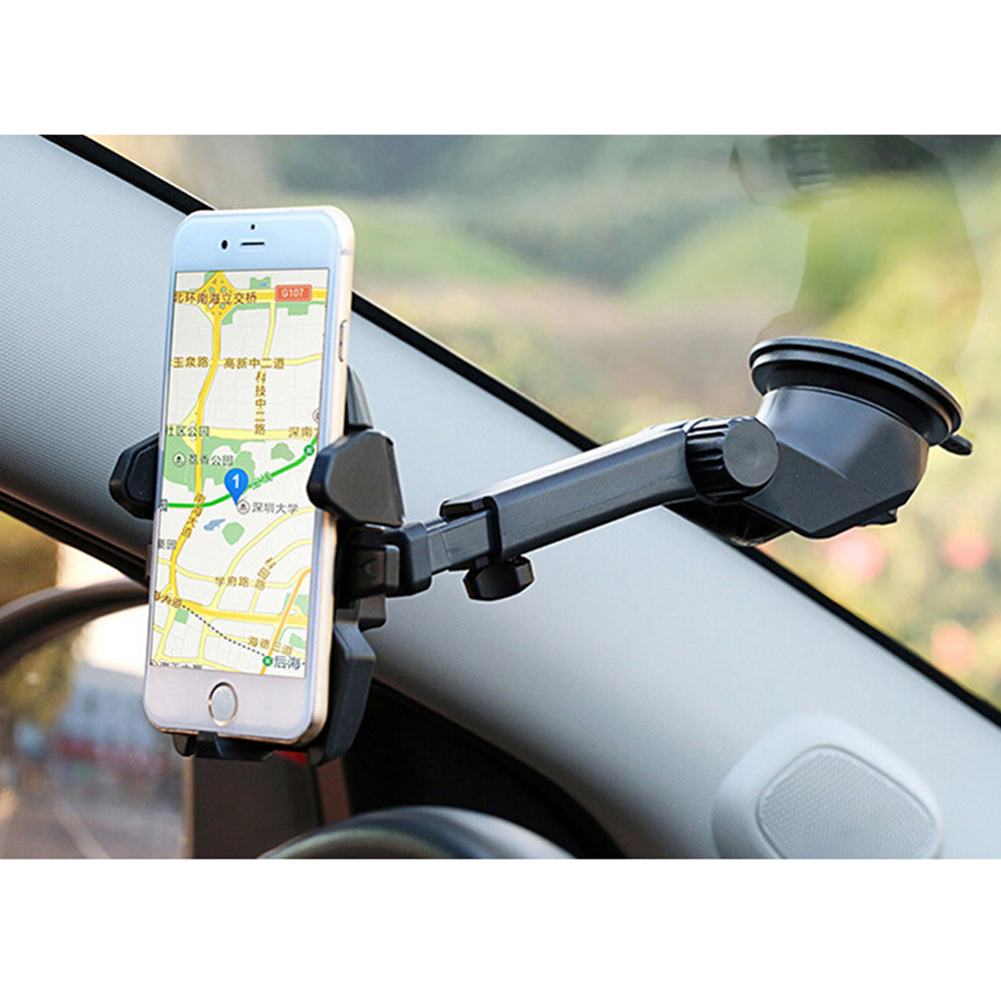 360 Degree Rotating Car Holder Long Lever Air Vent Stand Cradle GPS Holder Windshield Dashboard Car Phone Stand Holder