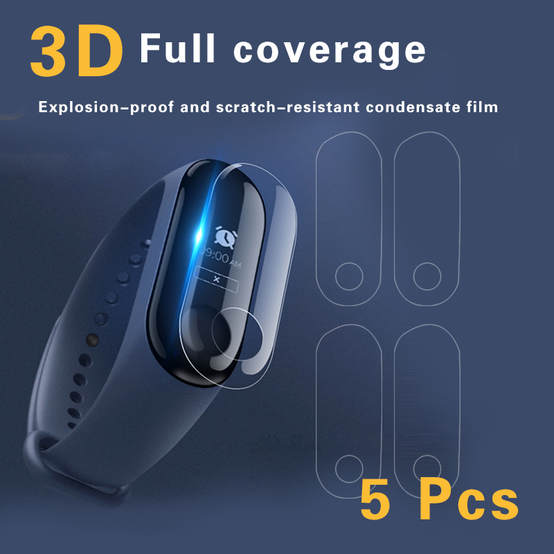 xiaomi band 3 5pcs For Xiaomi Mi Band 3 Screen Protector Miband3 HD Ultra Thin Anti-scratch Protective Film Soft film teclast x89 kindow 7 5 inch hd scratch proof protective screen film