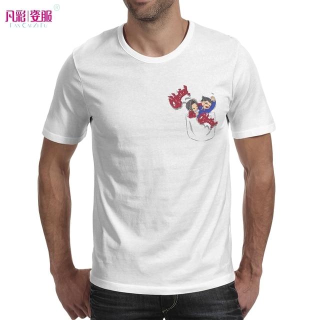 dda7ea60057c Phoenix Wright Ace Attorney In Your Pocket T Shirt Gyakuten Saiban Anime Design  Creative T-shirt Fashion Style Cool Top Tshirt