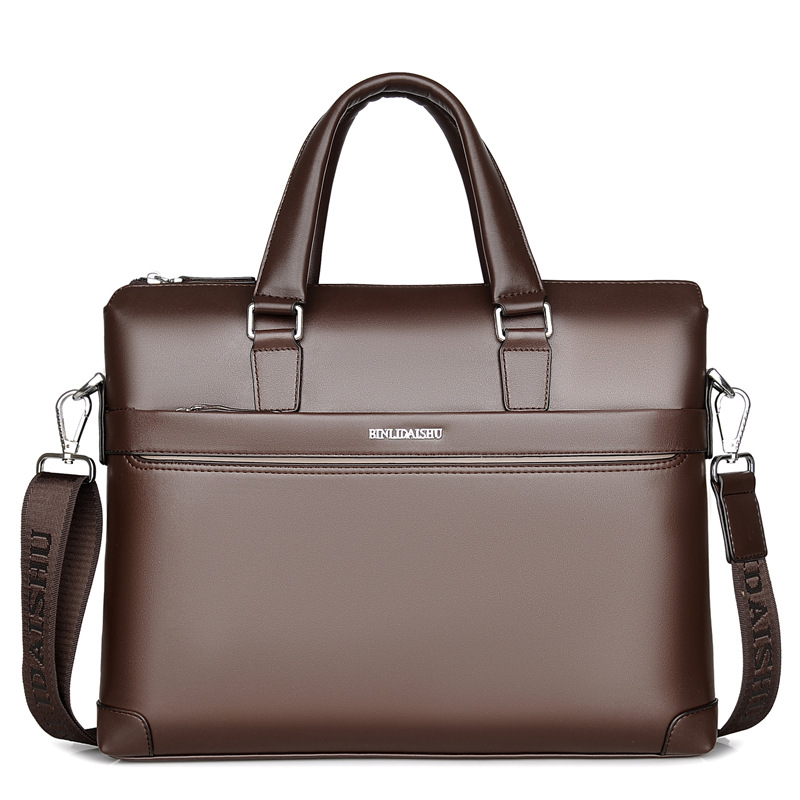 Men's Briefcase Computer-Bag Business Luxury Tote 14-Inch Casual New Boy Male Fashion