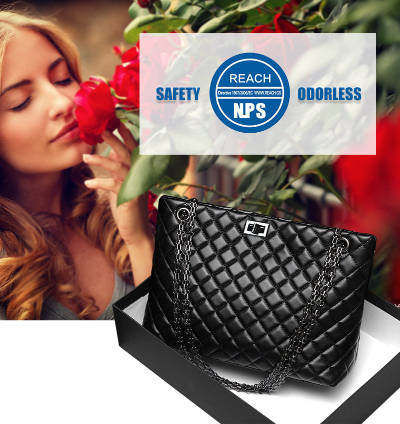 2018 Luxury Brand Women Plaid Bags Large Tote Bag Female Handbags Designer Black Leather Big Crossbody Chain Messenger Bag Girl (1)