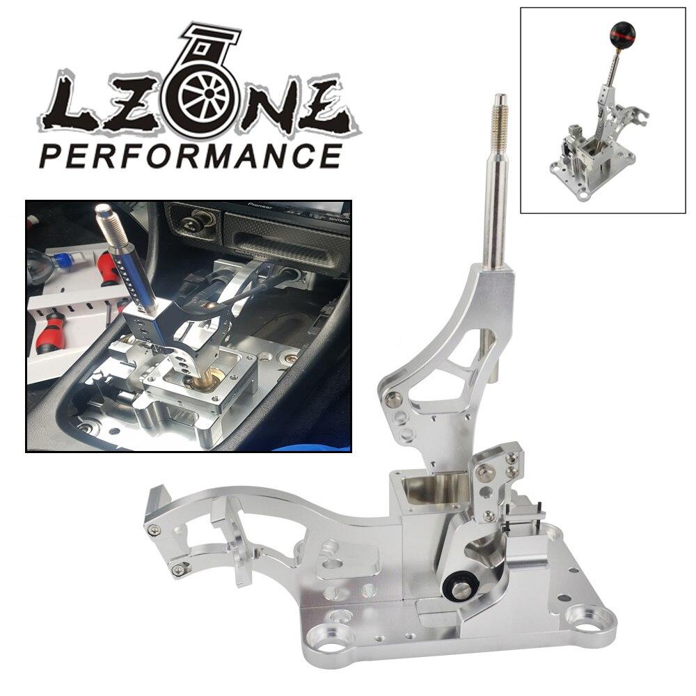LZONE-pour Acura RSX/K série moteur EG EK DC2 EF boîte de manette de vitesse de billette/véritable pommeau de levier de vitesse en Fiber de carbone sphérique manuel