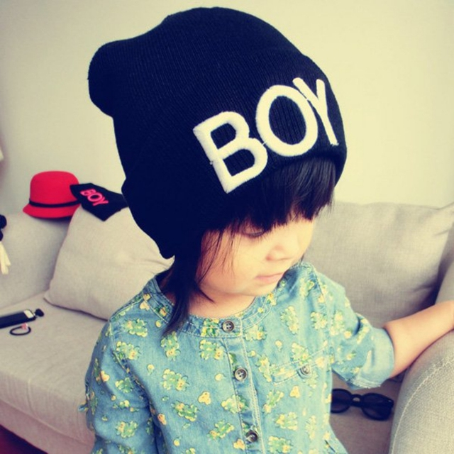 57cc2729244 Fashion Winter Toddler Baby Girl Boy BOY Skull Hat Warm Beanie Caps Woolen  Hats