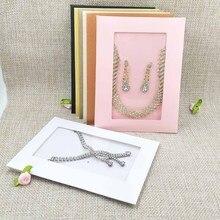 Карточка для ожерелья, для сережек, 14x10,5 см, 1 партия = 20 внутренних карт + 20 внешних сумок