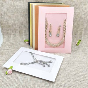 Image 1 - New Hot Sale Free SHipping HighQuality Necklace Card Earring Card &Invitation Bag 14x10.5cm 1lot=20inner card +20 out bags