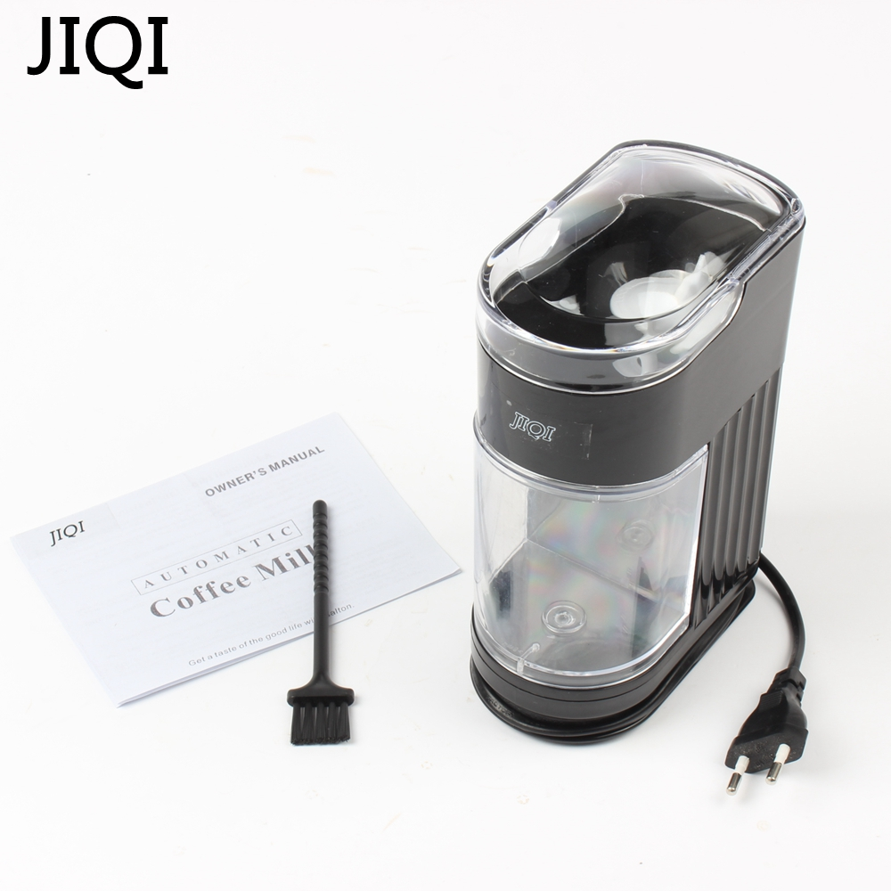 JIQI 110V/220V Home Coffee Grinding Machine Electric Portable Burr Mill Espresso Coffee Bean Grinder Coffee Powder Maker 120W burr grinder coffee bean miller electric 220v electric coffee grinder coffee grinding machine powder mill