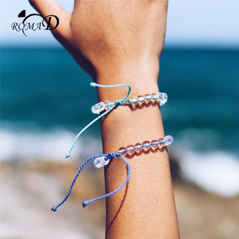 talla 40 6fb97 f3dfb US $1.2 48% OFF|ROMAD 4 ocean Natural stone bracelet for Men Women beads  handmade boho friendship bracelet Woman pulseras hombre R4-in Charm  Bracelets ...