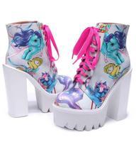 Новые зимние женские ботинки из воловьей кожи с принтом; женские ботильоны на очень массивном каблуке и платформе со шнуровкой; женские бот