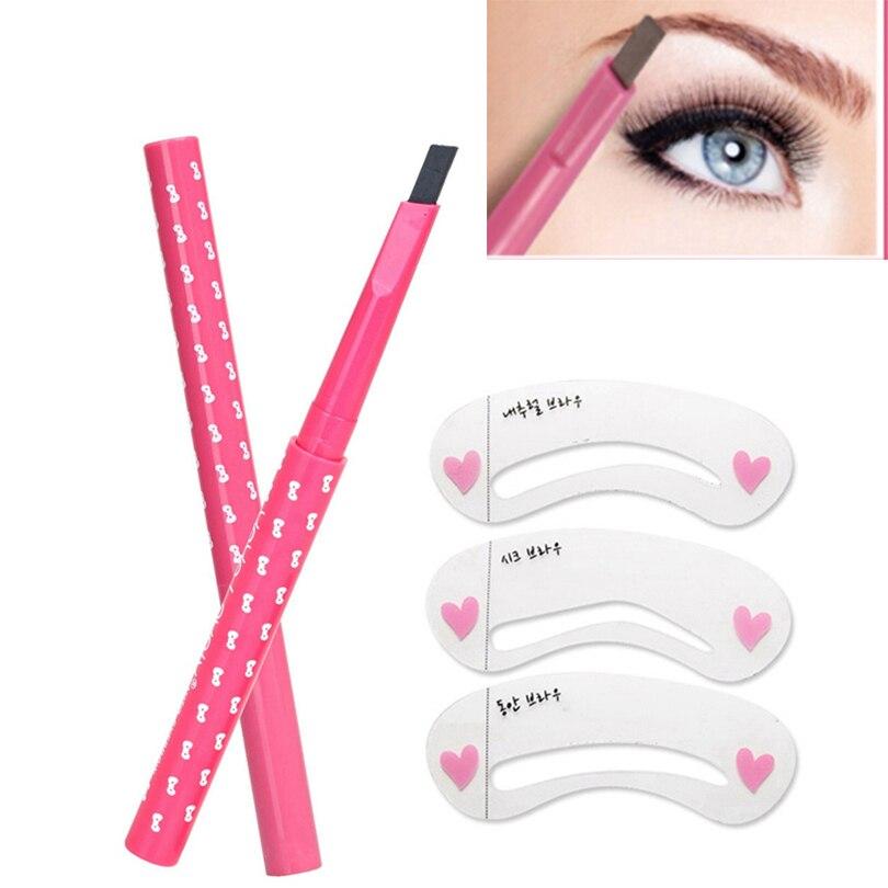 1 pcs mulheres bonitas das senhoras girls à prova d' água de longa duração lápis de sobrancelha sobrancelha eye liner pen maquiagem cosméticos ferramentas de beleza