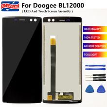 KOSPPLHZ dla Doogee BL12000 BL12000 Pro wyświetlacz LCD + ekran dotykowy akcesoria dla Doogee BL 12000 BL 12000 Pro + narzędzia + klej tanie tanio Pojemnościowy ekran 2160*1080 3 For Doogee BL12000 BL12000 Pro black foam box 6 0 inches