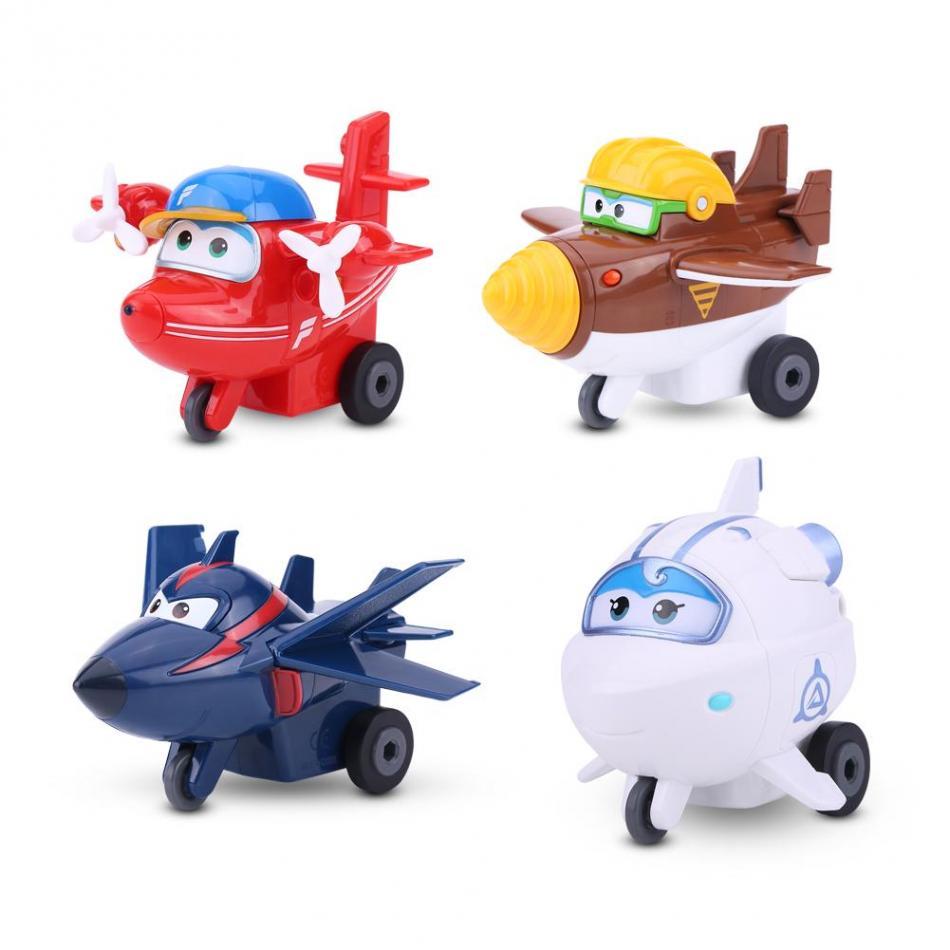 4Types Mini Toy Plane AnimationAction Figure Transforming Robot Airplane