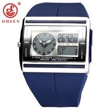Fashion Brand OHSEN Analog Digital Watch LCD Back light Hombre Relogio Masculino Waterproof Men Sports Watch Quartz Wrist Watch
