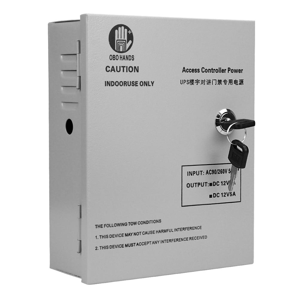 OBO HANDS Uninterruptible Power Supply Converter Input AC220V Output DC12V 5A Support External Battery