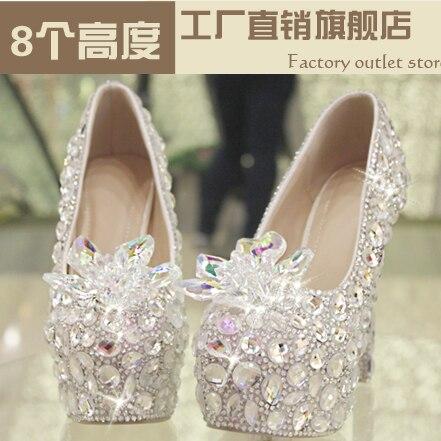 Здесь можно купить   Star 2016 crystal shoes bride female silver ultra high heels ruslana korshunova female party shoes Обувь
