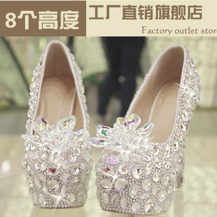 Star 2018 crystal shoes bride female silver ultra high heels ruslana korshunova female party shoesStar 2018 crystal shoes bride female silver ultra high heels ruslana korshunova female party shoes