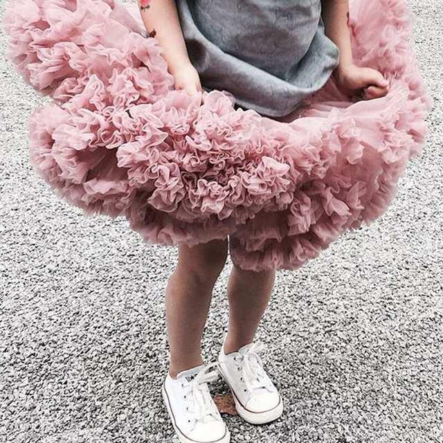 074f380fa Nueva falda tutú para niñas, falda de bailarina, faldas de Ballet de niños  mullidas para fiesta, danza, Princesa, ropa de tul