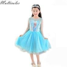 ; популярный костюм; платье Эльзы и Анны; детское платье для девочек; вечерние платья принцессы для девочек; детская одежда для костюмированной вечеринки; Vestido; одежда для малышей