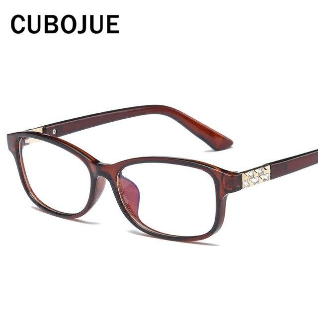 Cubojue Small Woman\'s Glasses Rhinestone Vintage Eyeglasses Frame ...