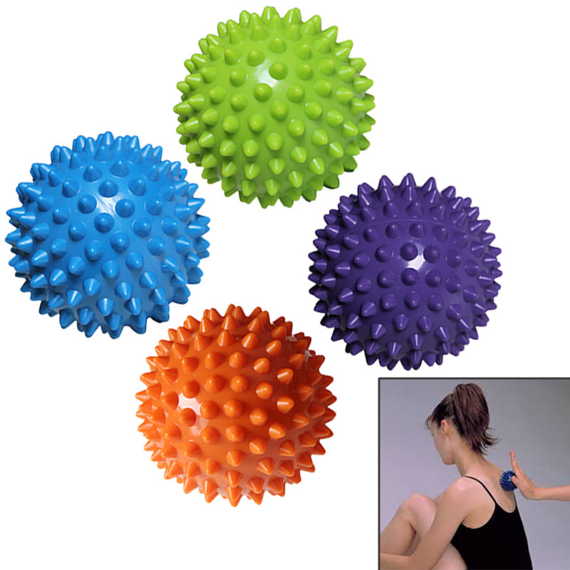 Massage Ball Spiny Ball Muscle Relax Bodybuilding Foot Hand Part Hedgehog The Ball Yoga Massage morais r the hundred foot journey