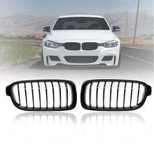 Пара матовый блесек для губ карбоновая черная 3 цвета Передняя решетка для почек для BMW 3 серии F30 F31 F35 F80 2012 2013- гоночные грили
