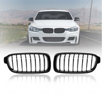 Pair Gloss Matt Carbon Black 3 Color Front Kidney Grille For BMW 3 Series F30 F31 F35 F80 2012 2013 2017 Racing Grills