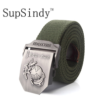 SupSindy men's canvas belt U.S Marines Alloy buckle military belt Army tactical belts for Male top quality men strap for jeans