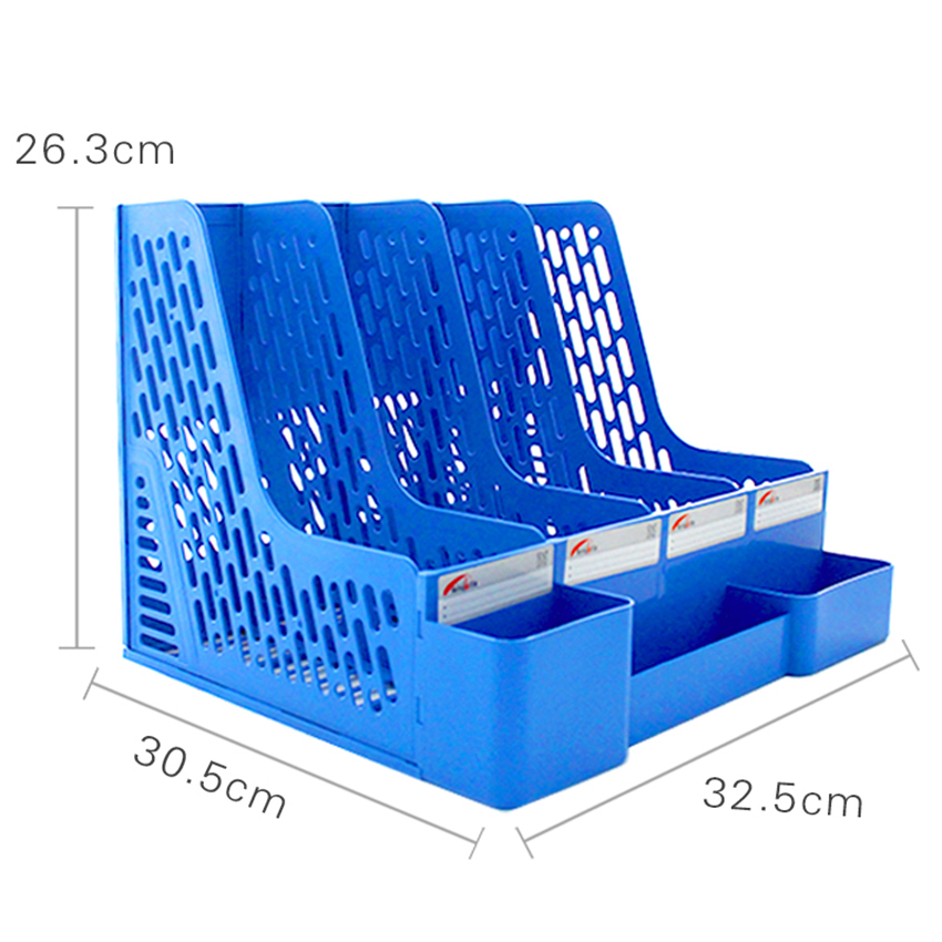 Large Capacity 4 Sections Desktop File Rack Paper Book Hold Document Tray Organizer Box With Pen Holder Shelf Office SuppliesLarge Capacity 4 Sections Desktop File Rack Paper Book Hold Document Tray Organizer Box With Pen Holder Shelf Office Supplies