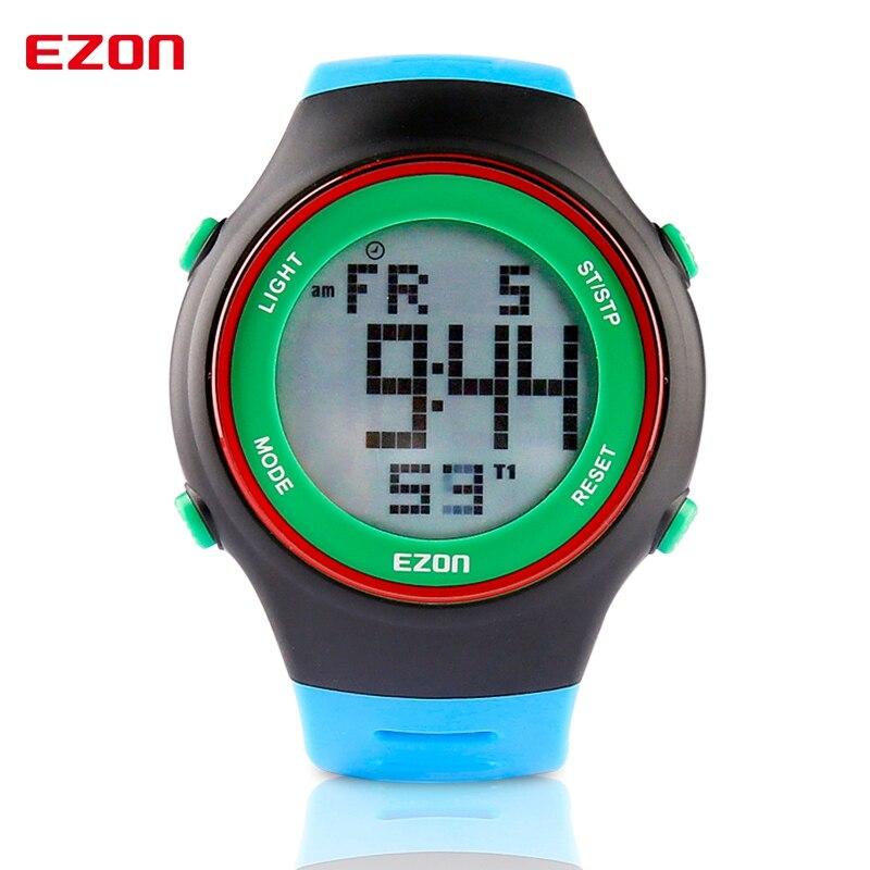Ezon Digitale Männer Sport Uhr Dual Time Stoppuhr Outdoor Spaß Beiläufige Laufende Schwimmen Wasserdicht 30 M Armbanduhr Montre Homme Reisen Uhren Herrenuhren