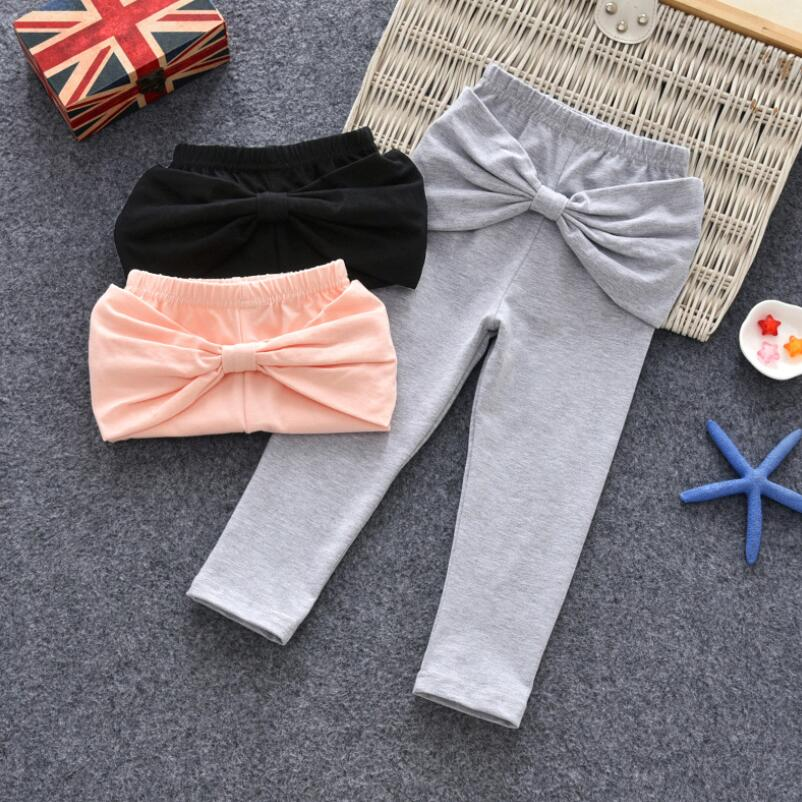 2018 Baby Toddler Bow Legging Pencil Pants Trousers Girl Winter Spring Fall Girls Leggings Kids Bottoms Children Clothes JW6831