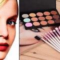 8 PCS Professional Beauty Cosméticos Make Up Brushes Set com Caso + 15 Cores Matte Paleta Corretivo Maquiagem Ferramentas Kit Venda quente