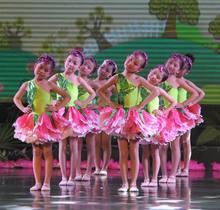 b7a34457cb2d Green leaves children dress costumes dance clothes children Jasmine Lotus  Pond petal skirt performance clothing