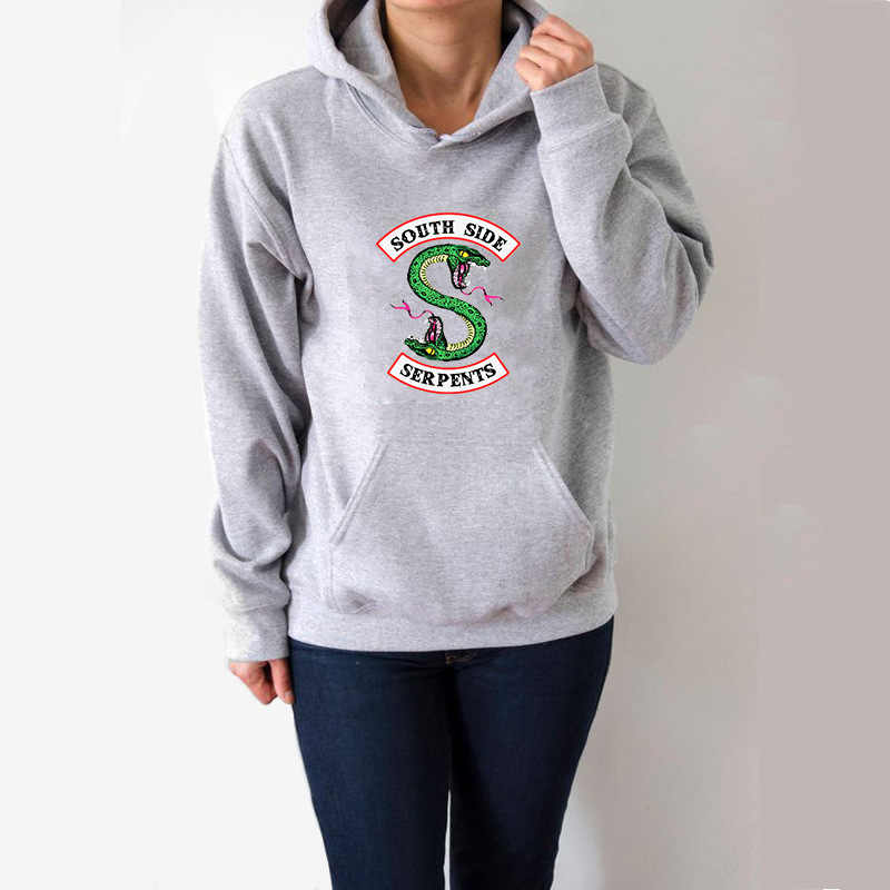 Riverdale South Side Serpents Hoodie Sweatshirts for Women  Winter Female Teenage Girls Streetwear Oversize Pullover Sweatshirt
