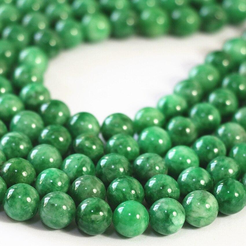 3 types natural stone jade loose beads green jasper chalcedony ...