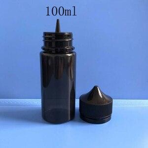 Image 3 - 50 Stuks 30 Ml/60 Ml/100 Ml/120 Ml Lege Zwarte Pet E Sapfles Vape druppelaar Flessen Kindveilige Dop Vloeibare Sigaret Olie Vullen Containers