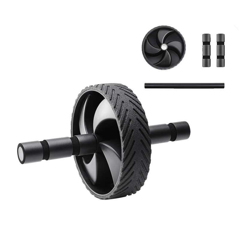 Abs Roller for Workout with Heavy PVC Wheels and Non Slip Rubber Slip for Increased Muscle activation
